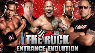 WWE 2K16 - The Rock Entrance Evolution [SD JBI - WWE 2K16]