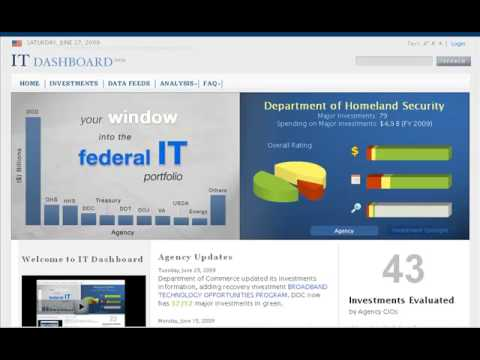 Using the IT Dashboard - Welcome to the IT Dashboard! - YouTube