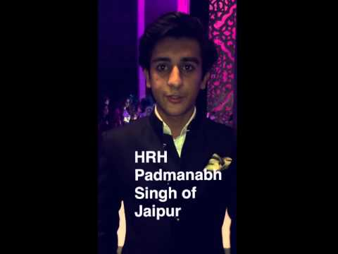 The strapping Maharaja of Jaipur, Padmanabh Singh, was felicitated for Royal Debutant of the year.