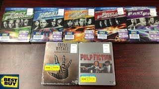 Best Buy SteelBook Haul/Unboxings! - Fast & Furious 1-5 / Total Recall / Pulp Fiction - Bluray