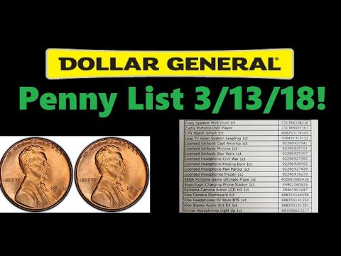 Dollar General Penny List For March 13 2018 With Printable Doc