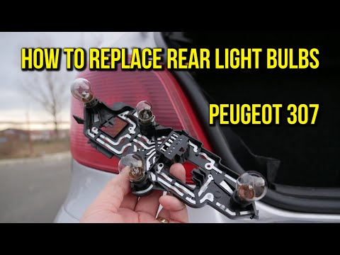 How to replace rear lamp bulbs Peugeot 307