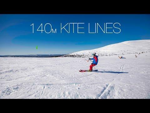 140m kite lines - KITEBOARDING IN LAPLAND