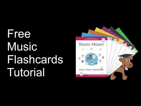 Free Music Flashcards Tutorial: Automated Grand Staff Flash Cards Online, From Doctor Mozart