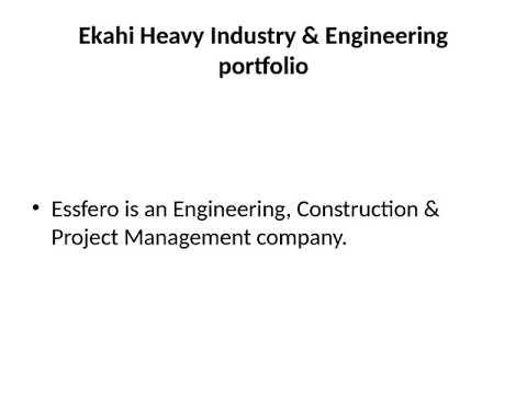 Ekahi Heavy Industry &  Engineering