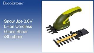 Sun Joe 3.6V Li-ion Cordless Grass Shear/Shrubber
