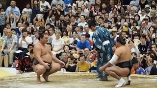 2017年8月8日、渋谷青山学院で行われた大相撲夏巡業です。 #青学相撲 ...