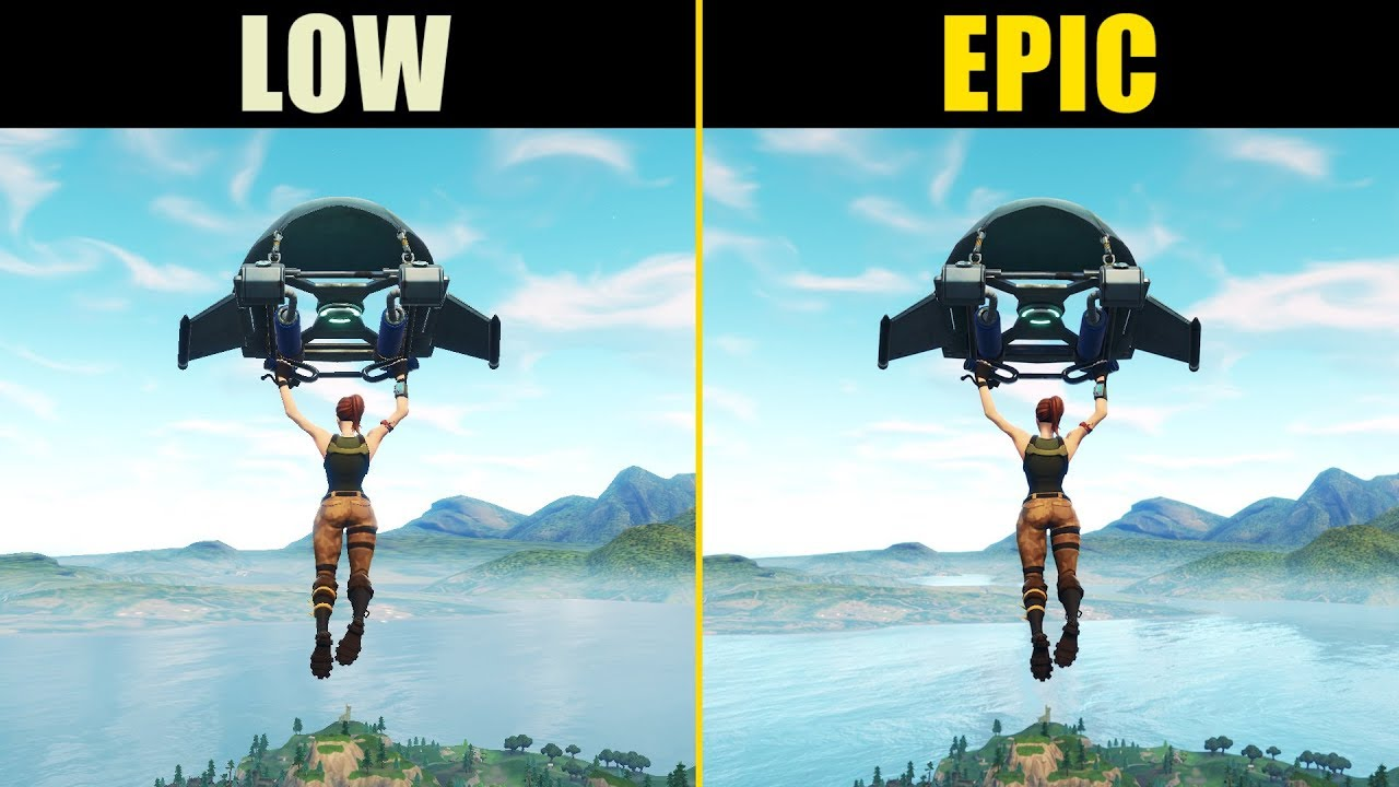 Fortnite Low Vs Epic Graphics Comparison Youtube