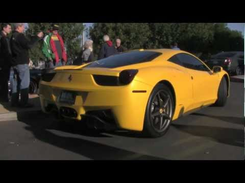 458 Italia Pearl Yellow With Start Up