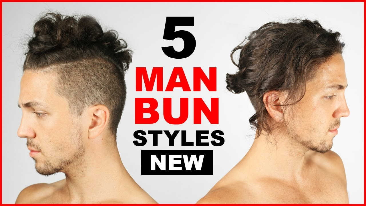 5 Cool Man Bun Top Knot Styles Men S Hairstyle Ideas Youtube