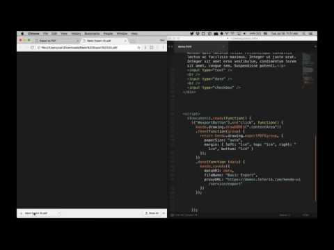 Kendo UI DevChat: Export HTML And UI Widgets To PDF With JavaScript