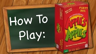 How to Play: Apples to Apples