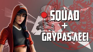 🔴SQUAD + GRYPAS ΛΕΕΙ / FORTNITE BATTLE ROYALE (Use Code : iz-grypas)