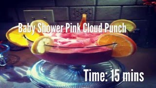 Baby Shower Pink Cloud Punch Recipe