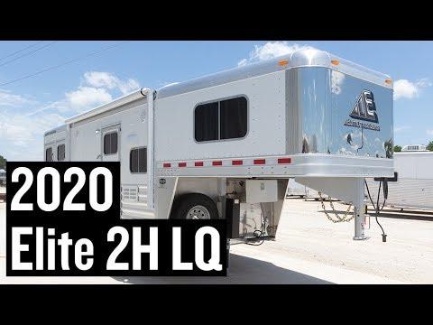 2020 Elite 2 Horse Living Quarters Trailer - Stock #3619
