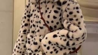 레오퍼드 밍크퍼자켓 페이크 토끼털자켓 호피무늬