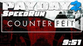 PAYDAY 2 - Counterfeit SpeedRun Any% [9:51 IGT]