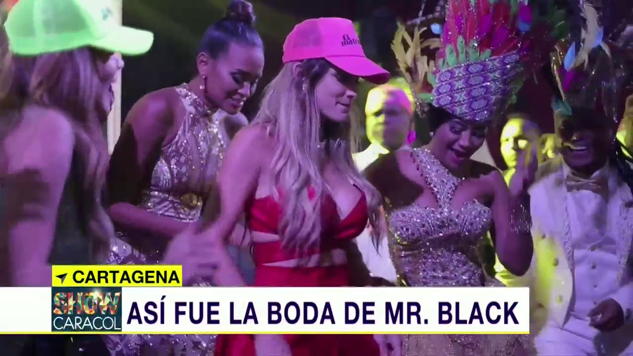Matrimonio Mr Black : Así fue la boda de mr black en cartagena noticias caracol youtube