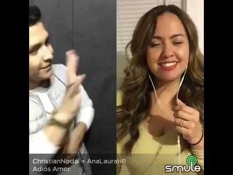Adiós Amor  Christian Nodal y Ana Laura Holguín smule duetos smule karaoke con christiannodal