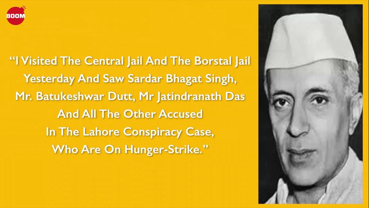jawaharlal nehru in jail