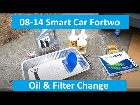 Smart Car ForTwo Oil Change Tutorial