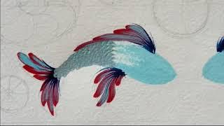 Петриковская роспись. Рисуем рыбу. Ukrainian decorative painting