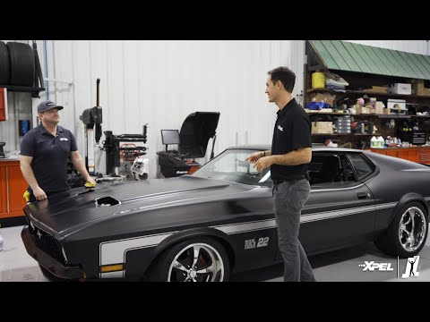 Joey Logano XPEL Wrap Video on Ford Mach 1