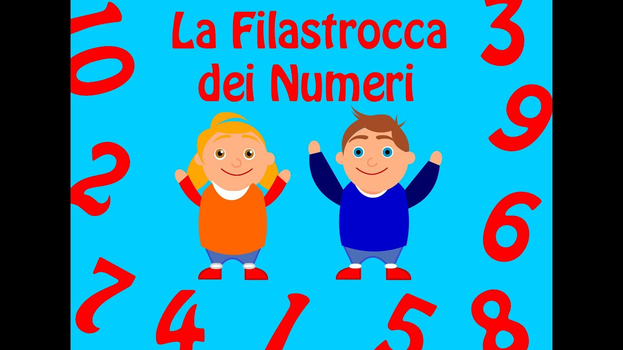 Filastrocca dei numeri filastrocche per bambini youtube - Colore per numeri per i bambini ...