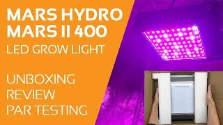 Mars II 400 LED Light Grow - Açma, İnceleme, PAR Testi