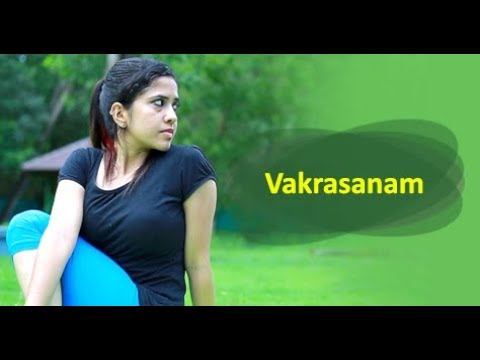 Yoga For beginners Vakrasanam by Yogarogyam - English