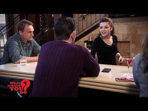Jealous Boyfriend Harasses Bartender Girlfriend At Work   What Would You Do?   WWYD