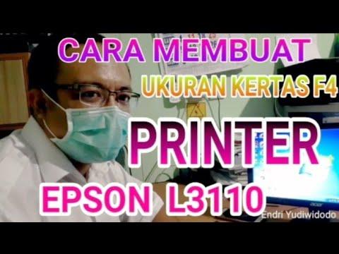 Video berikut ini akan menjelaskan tentang bagaimana caranya menambahkan ukuran kertas F4 pada print.