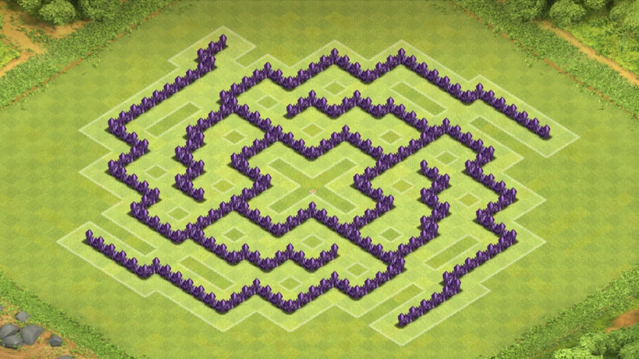 Base Coc Th 8 Labirin 8