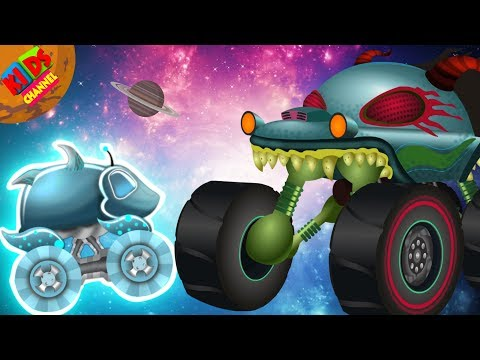 Haunted House Monster Truck | Aliens From Outer Space | Nursery Rhyme For Kids | Ghost Vehicle EP#67