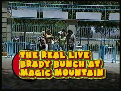 The Real Live Brady Bunch visits Magic Mountain Raw Footage