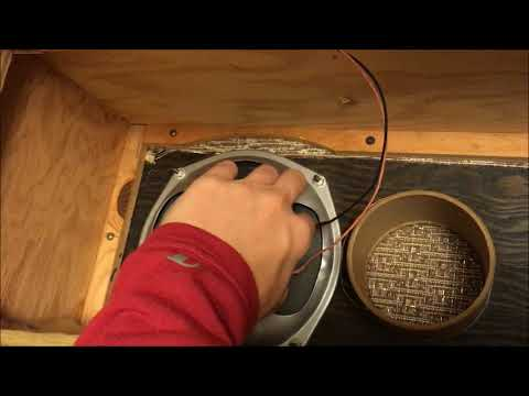 """Allied Radio Corp """"Lincoln"""" speaker test and disassembly."""