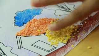 How to draw waste for Any craft work waste material