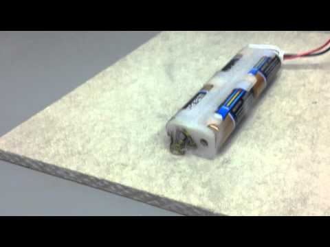 What happens when you stab a cell phone battery from YouTube · Duration:  23 seconds