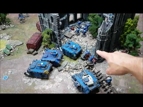 Space Marines vs Dark Eldar; Warhammer 40k 8th edition battle report