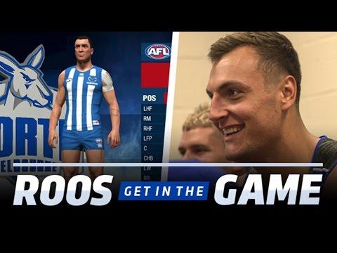 North Melbourne players test out AFL Evolution