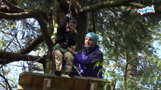 Harry, Charlie and Japser - Big Zip Wire Fun