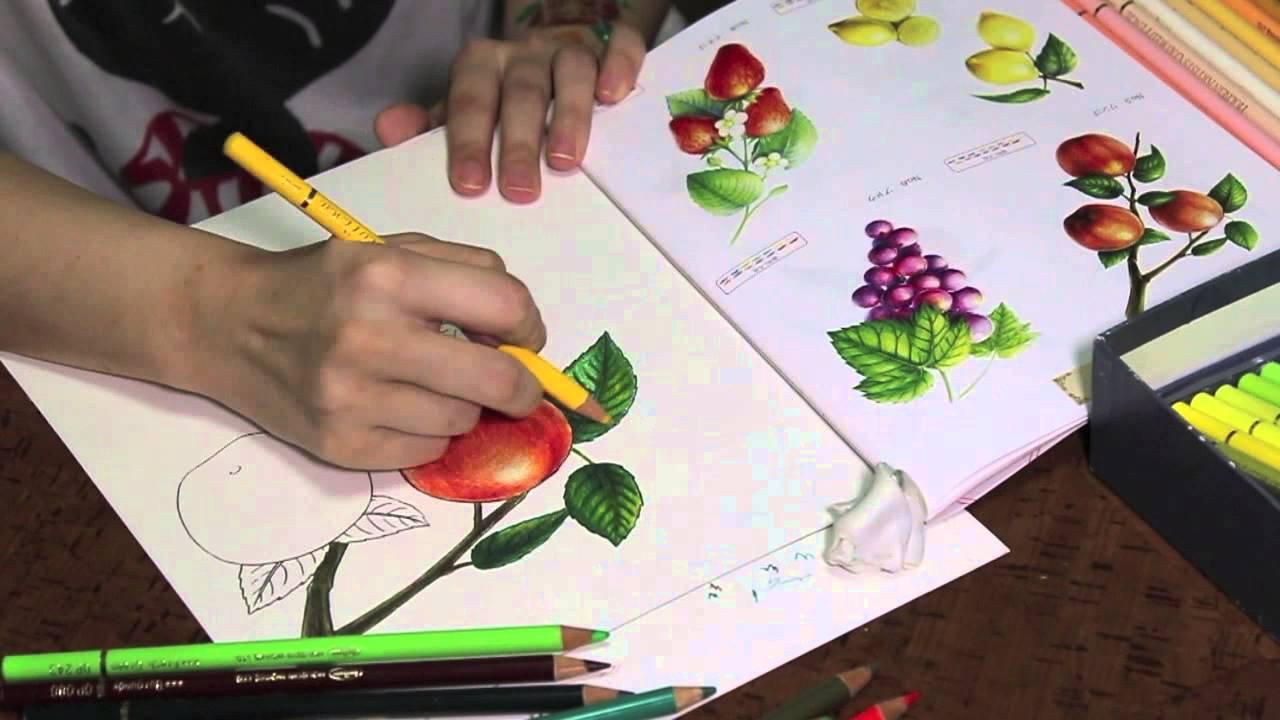 セリアの大人が楽しむぬり絵塗ってみた Youtube