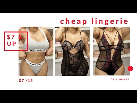 😱 MY FIRST CHEAP LINGERIE HAUL || $7 AND UP Ft. Fashion Nova 😍😳