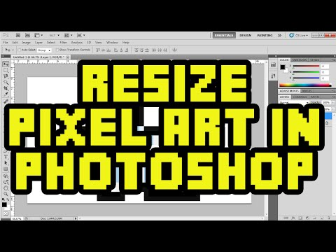 How To Resize Pixel Art In Photoshop CS6 with No Quality Loss - Pixelated Image Resize Tutorial