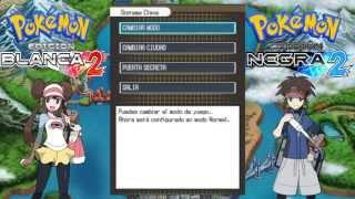 Pokémon Edición Negra y Blanca 2 - Como cambiar Modo, Ciudad a Bosque y Puerta Secreta.