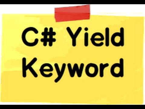 c# (Csharp):- What is the use of Yield keyword in c# ?