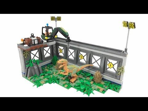 Lego Jurassic World Raptor Cage Moc Youtube