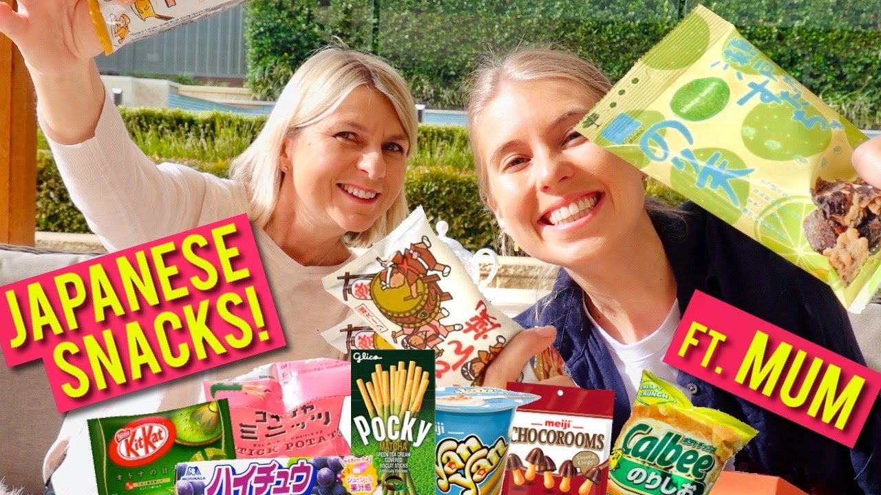 Mum and I tried cool Japanese snacks!!