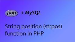PHP & MySQL Tutorial 19 - String position (strpos) function