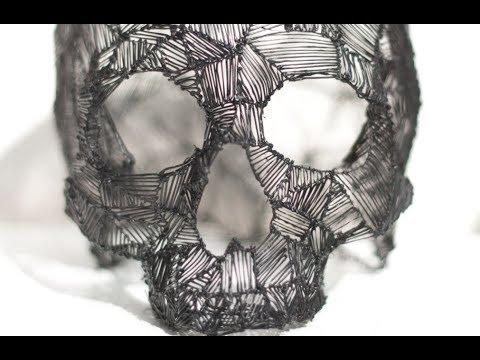 3d pen skull sketch | LIX Pen drawings